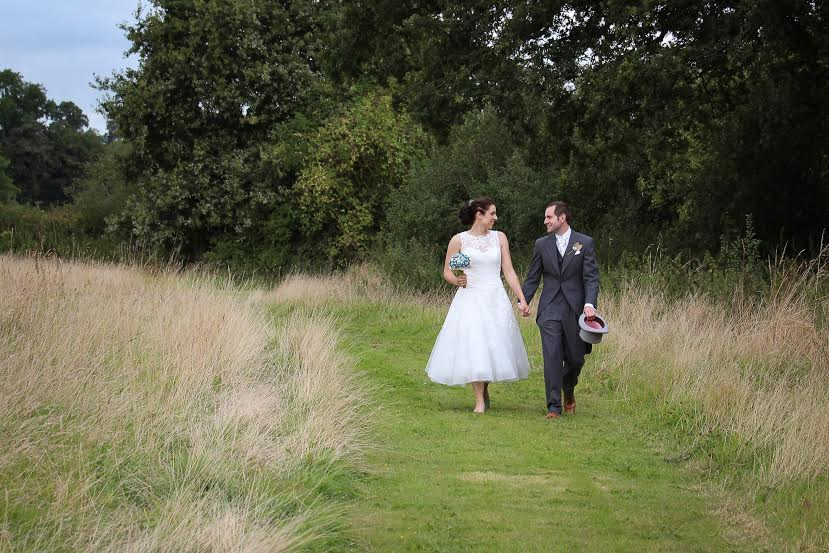 """Our gorgeous Mr and Mrs Katie Foster!  Some lovely feedback from our bride too :) ............................... """" When I was hunting for my perfect dress, one of my friends recommended The white dress boutique to me, and what a great recommendation it turned out to be! Having found my dress, the friendly staff helped me to talk through what alterations I would be able to make in order to make this beautiful gown perfect for me! Selina was a fabulous seamstress and put me completely at ease about the changes I was having made. Even when she was there armed with her scissors, cutting up lace whilst I was wearing the dress, I was completely confident that she would create the dress I had dreamt of!    Sure enough the dress turned out beautifully, and made my wedding day incredibly special. I couldn't imagine getting married wearing anything else and can't thank the wonderful team at the White boutique enough for all of their help and support! I will certainly be recommending them to my friends knowing they'll experience the same friendly and helpful service that I received ."""""""
