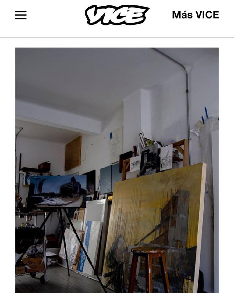 Este pintor convierte lugares abandonados en la CDMX en paisajes surreales