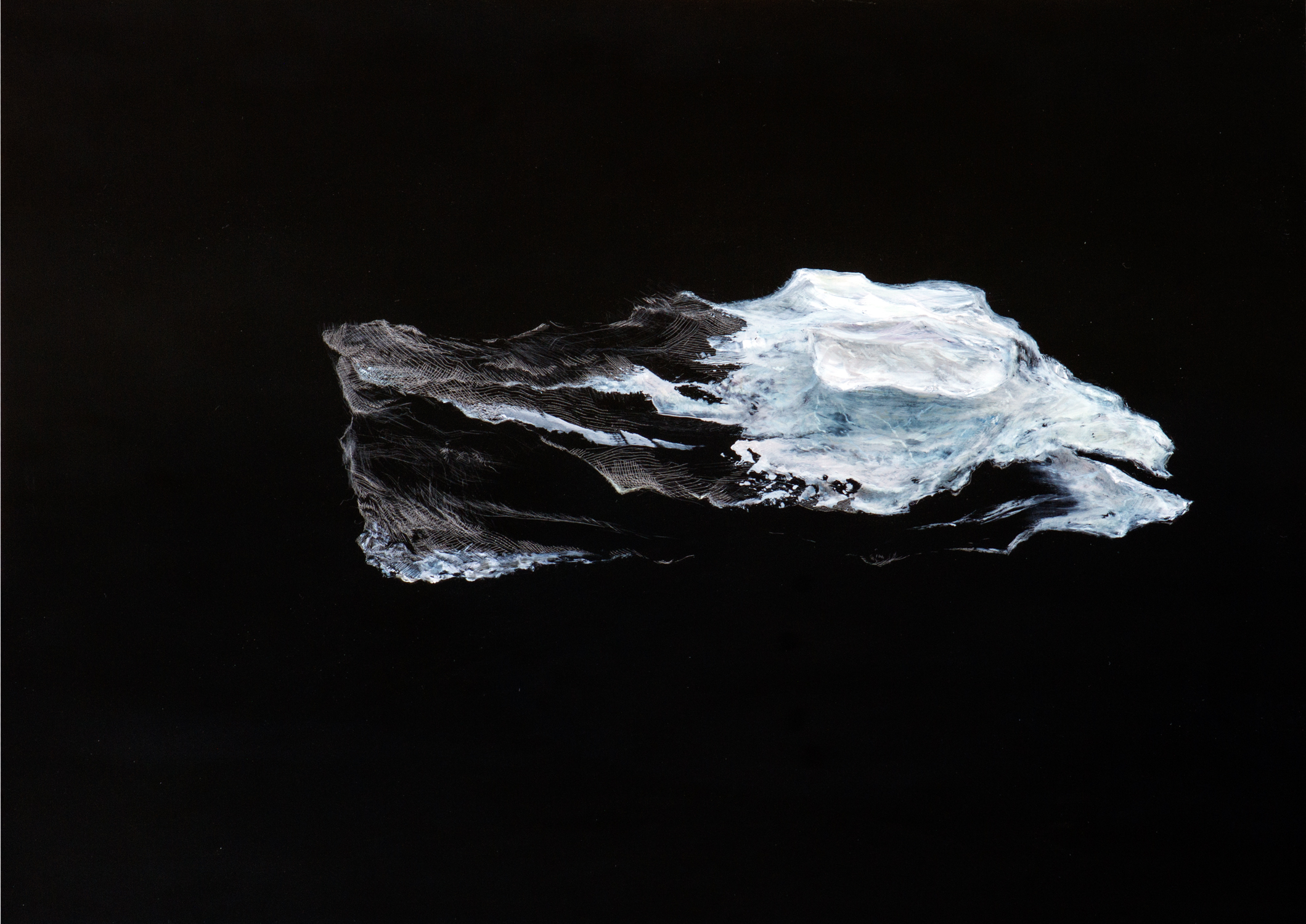 "Your Eyes on the Ice (West) , Oil on Acrylic Plate, 16"" X 87"", 2015"