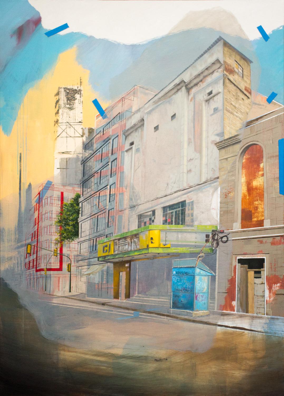"Cinema Edition II - Rio  , Oil and Acrylic on Canvas  55"" X 39""  2017"