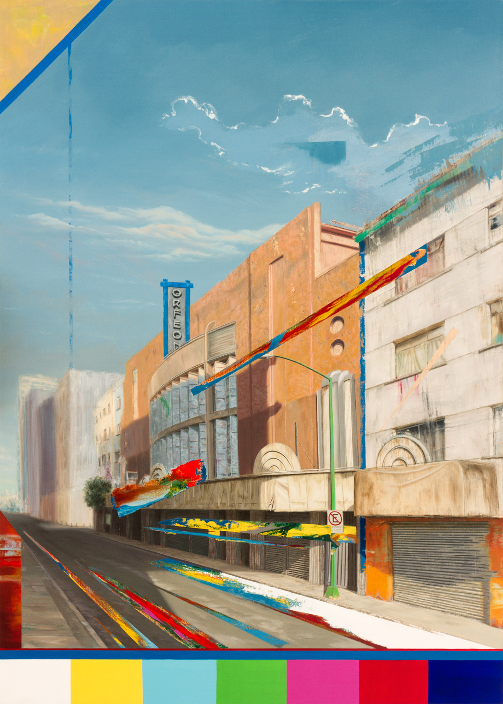 "Cinema Edition III - Orfeon  , Oil on Canvas  55"" X 39""  2018"