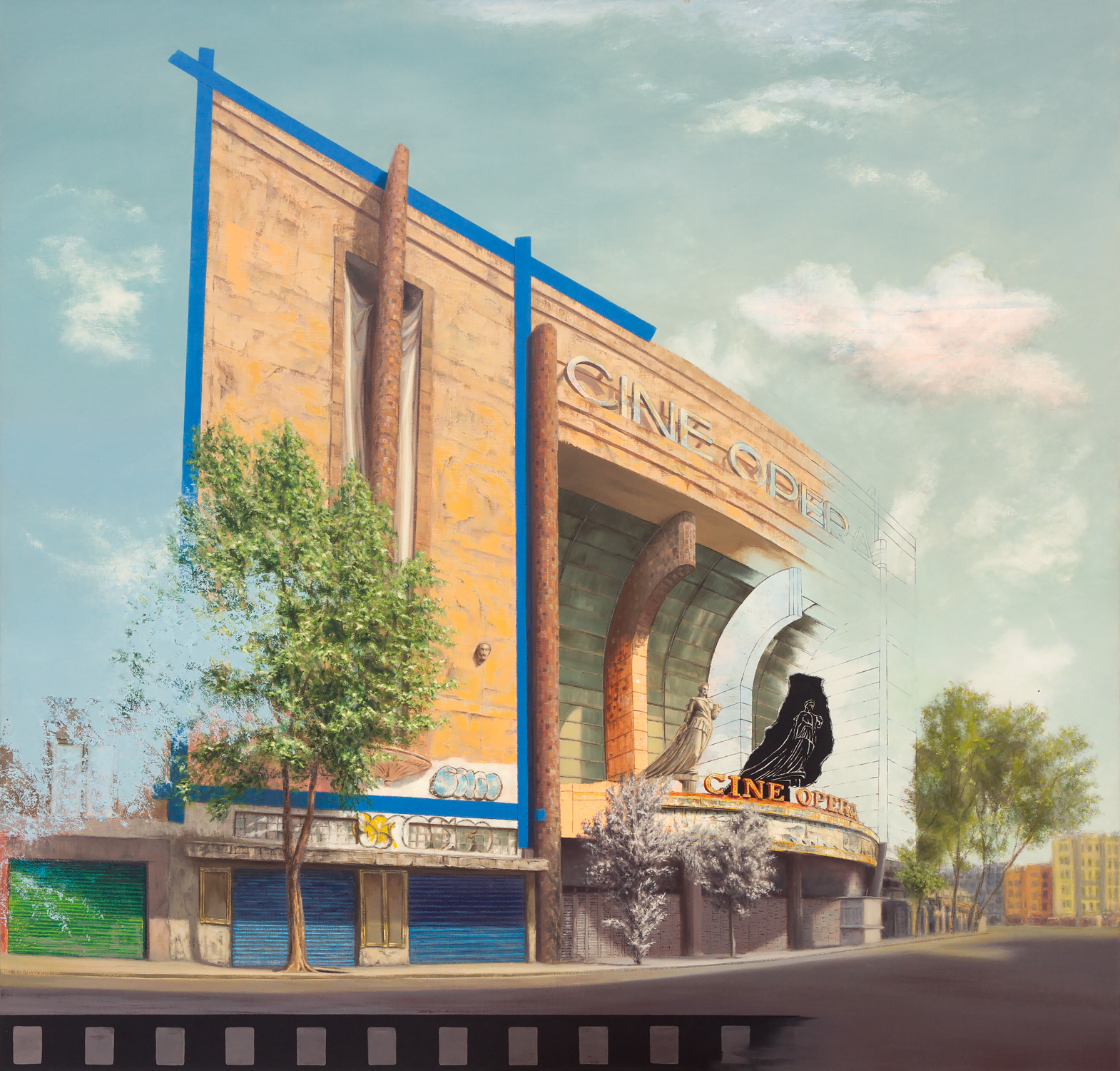 "Cinema Edition IV - Opera  , Oil and Acrylic on Canvas  39"" X 49""  2018"
