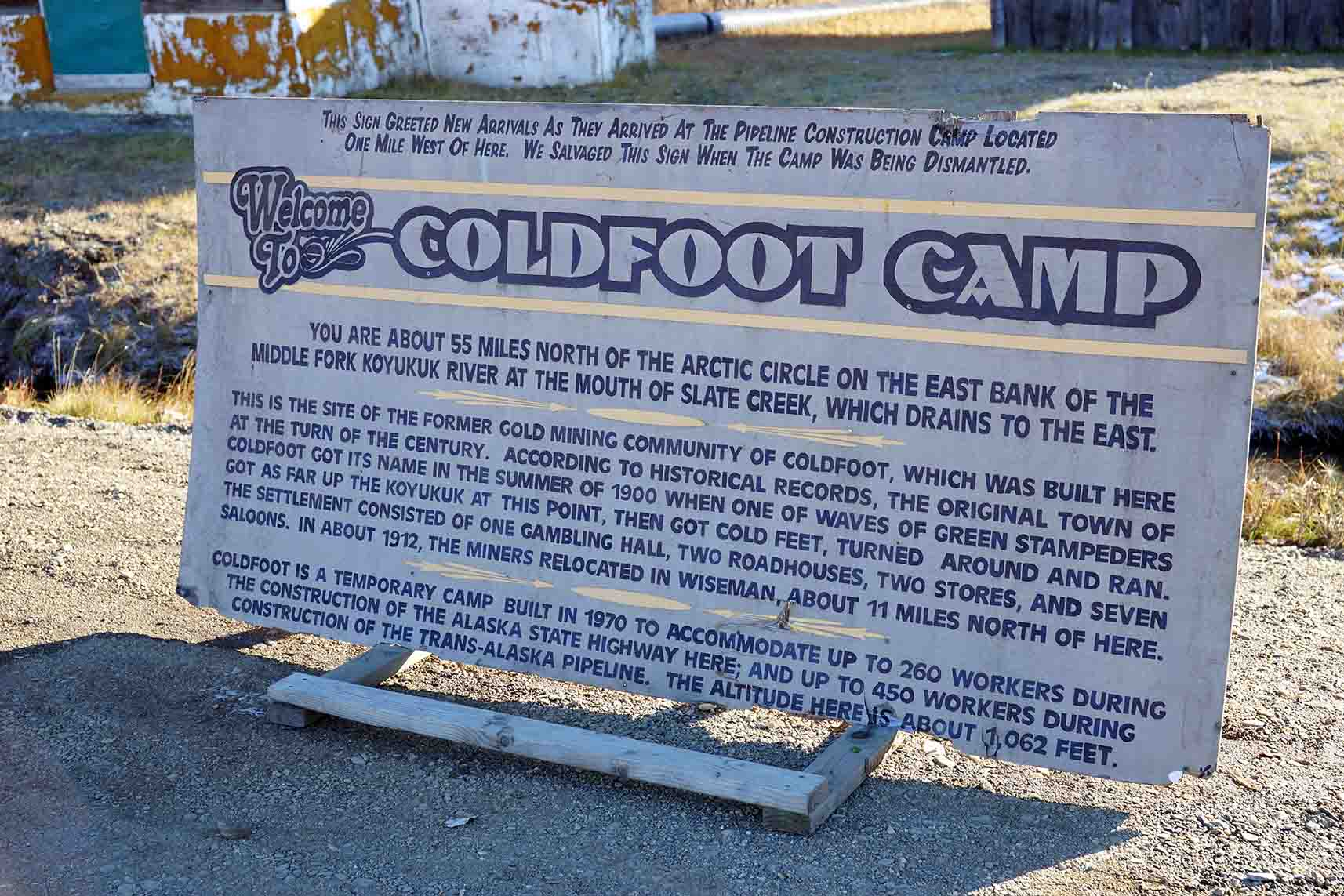 About - Read about Coldfoot Camp's rich history, how to prepare for your trip to the Arctic, and what we have to offer.