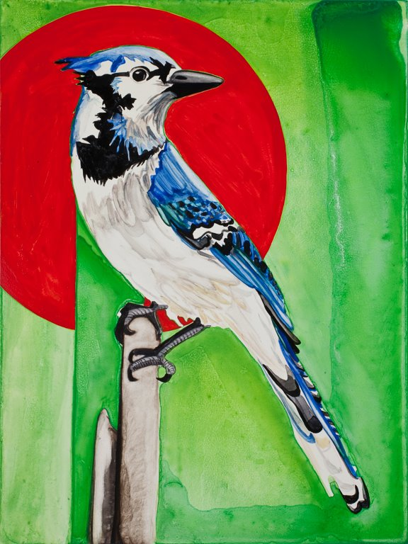 "Blue Jay   12"" x 9""   Watercolor on board   ©Annika Connor"