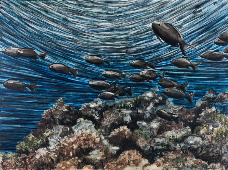"Black Snappers   18"" x 24""   Watercolor on board   ©Annika Connor"