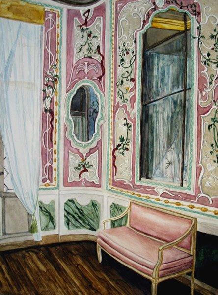 """Casanova Pauses watercolor 16"""" x 12""""     ©Annika Connor"""