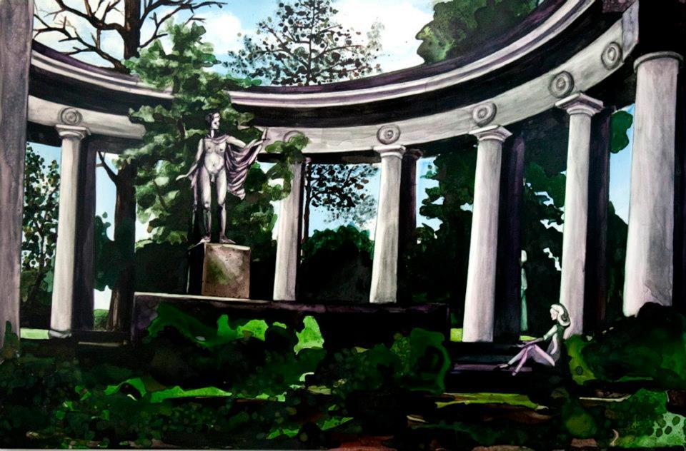 """Apollo's Circle watercolor 24"""" x 36""""     ©Annika Connor"""