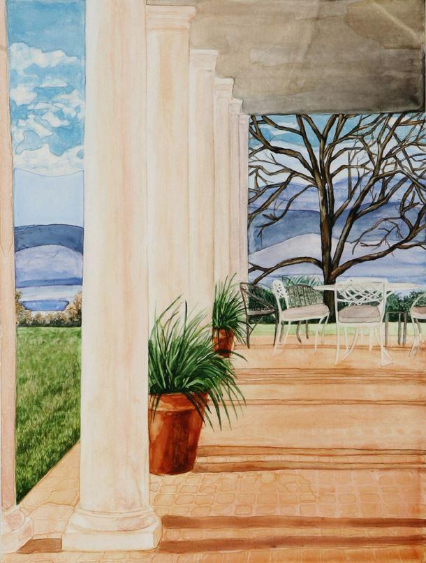 """Virgina Hill watercolor 16"""" x 12""""    ©Annika Connor"""