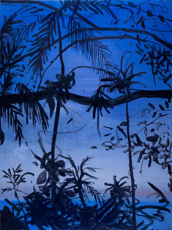 "Tropical Jungle Oil on Canvas 72"" x 54"""