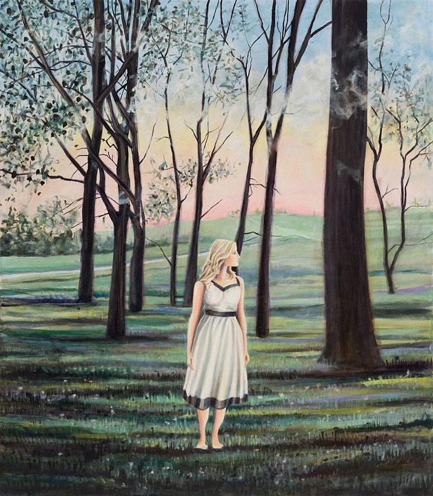 """Sleepwalker   Oil on canvas   60"""" x 52""""   ©Annika Connor"""