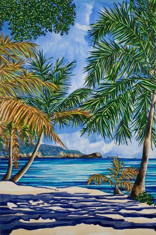 "Lagoon   watercolor   36"" x 24"""