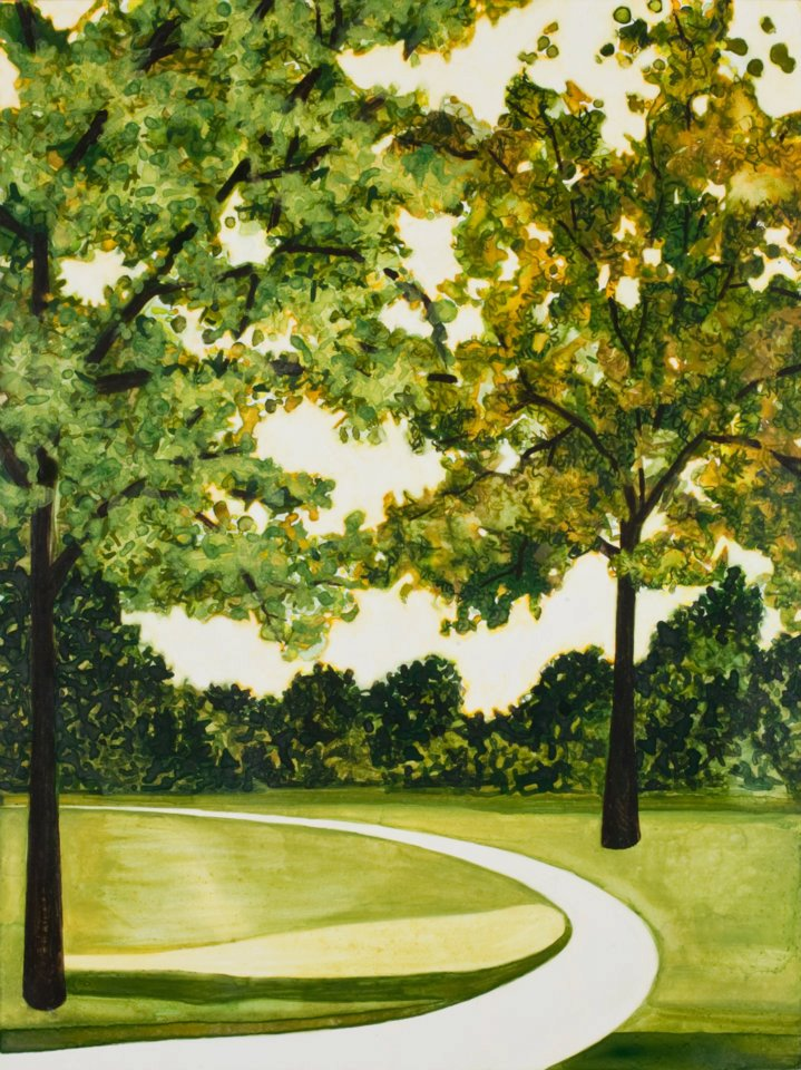 "Promenade   watercolor   16"" x 12"""