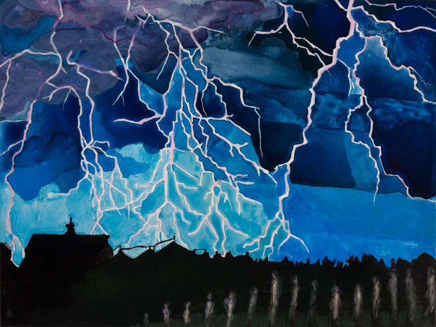 """Untitled Storm Watercolor 18"""" x 24"""""""