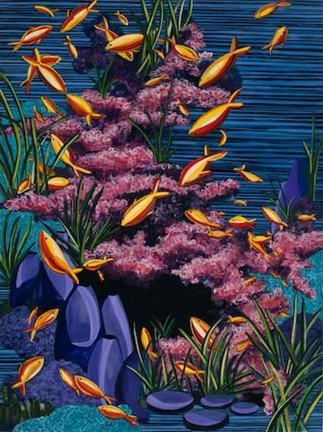 """Goldfish   watercolor   16"""" x 12"""""""