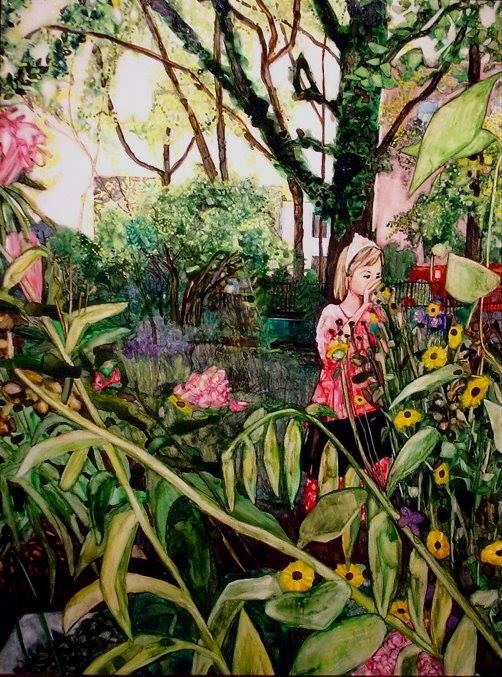 """September Sunshine   16"""" x 12""""   watercolor"""