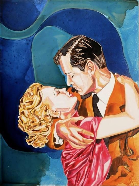"""Avec le Coeur   watercolor   24"""" x 18"""""""