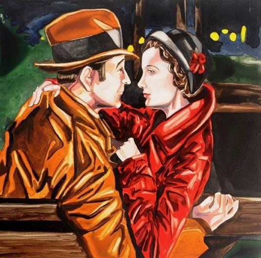 "Buckingham Blitz   watercolor   12"" x 12"""