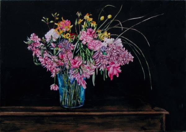 "Flower Study   Watercolor   5"" x 7"""