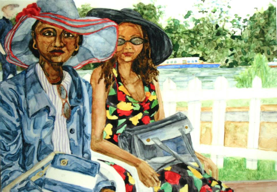 "At Henley   Watercolor   5"" x 7"""