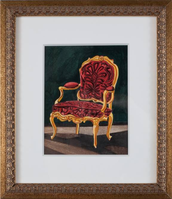 Chair Study   watercolor on paper