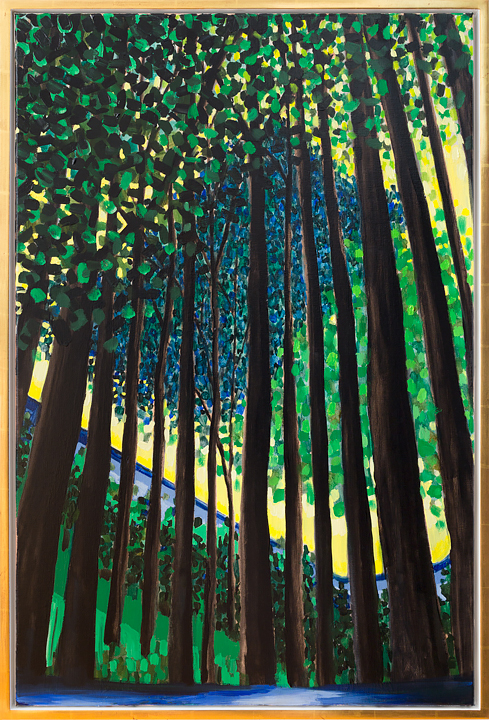 "Peacock Forest    36"" x 24""   oil on linen   ©Annika Connor"