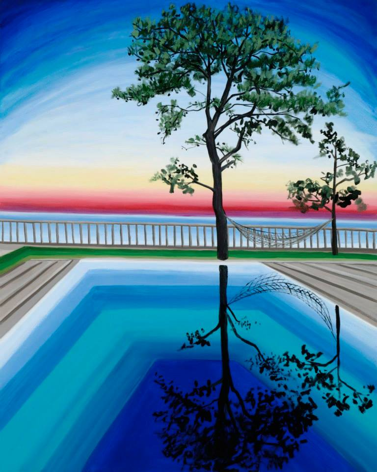 """Peter's Tree   60"""" x 48""""   oil on canvas    ©Annika Connor"""