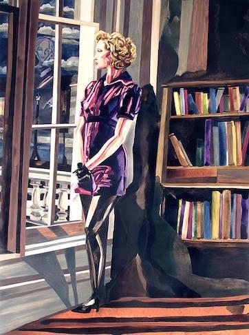 "Galina   40"" x 30""   watercolor on board    ©Annika Connor"