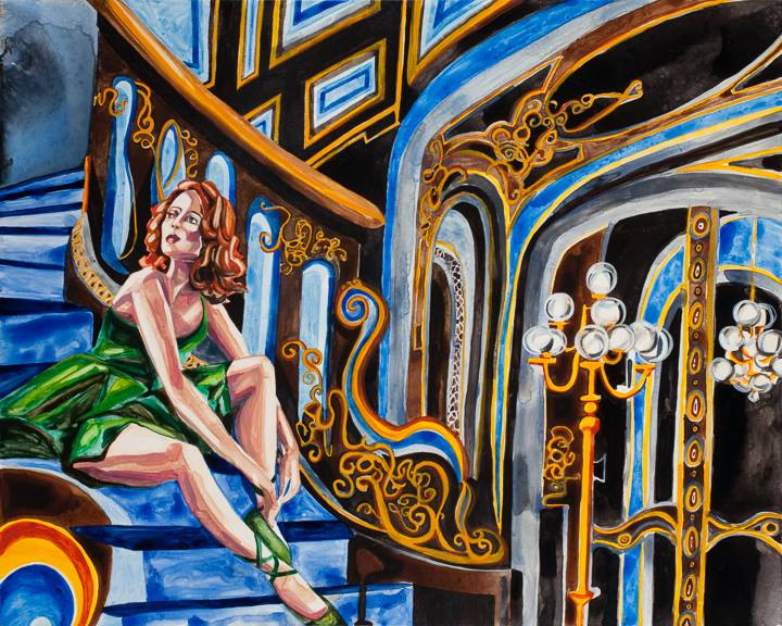 "Blackwood Hall   18"" x 24""   Watercolor on board    ©Annika Connor"