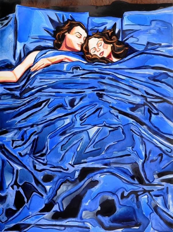 """Winter Rain   watercolor   24"""" x 18"""""""