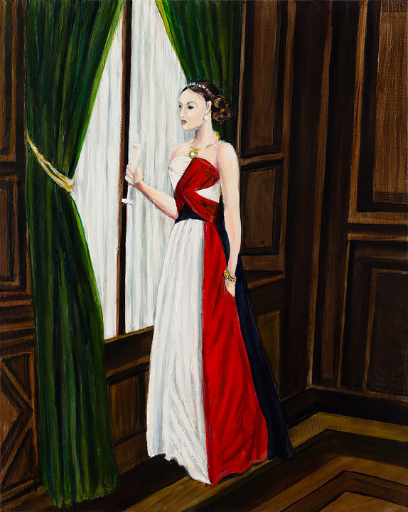 "Untitled Lady    20"" x 16""    oil on linen   ©Annika Connor"