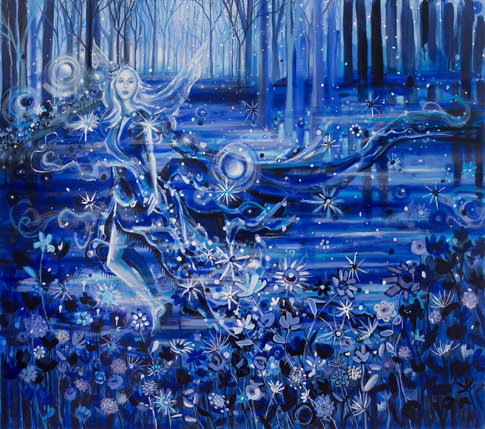 """The Tangible Nothing of Night   64"""" x 72""""   Oil on Canvas   ©Annika Connor"""