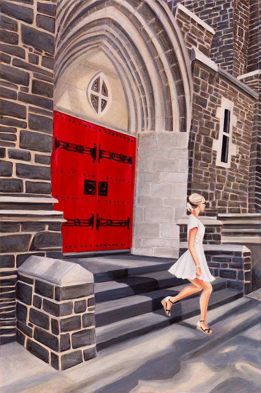 """The Confession 36"""" x 24"""" Oil on Linen ©Annika Connor"""