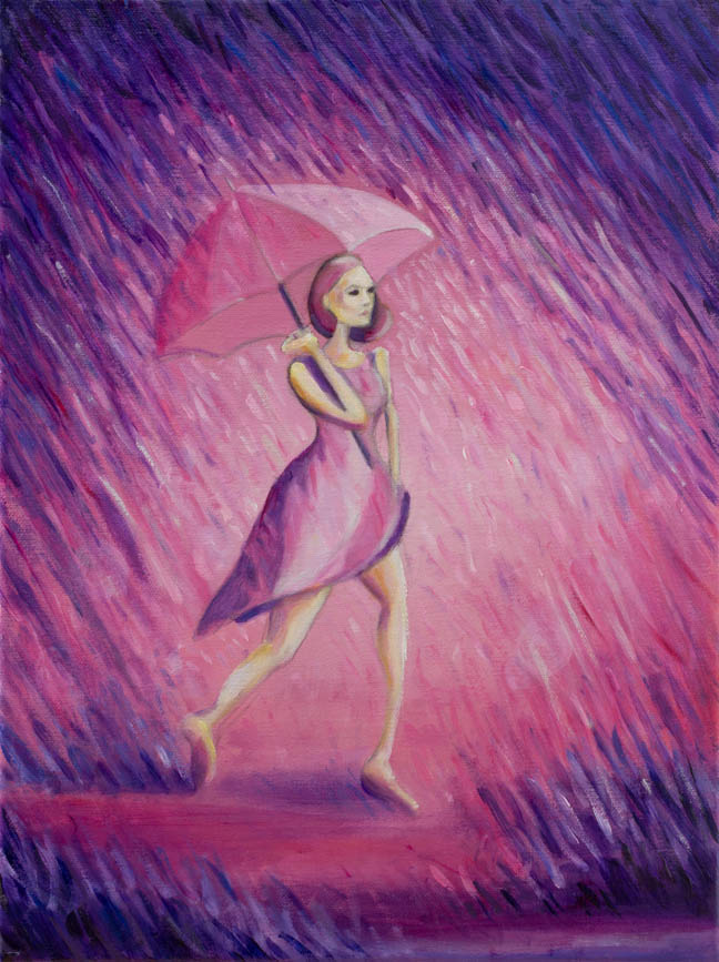 "Purple Rain  12"" x 9""  Oil on Linen  ©Annika Connor"