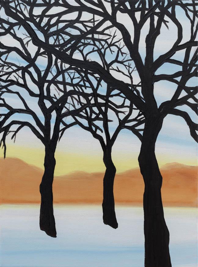 "Camus Forest  12"" x 9""  Oil on Linen  ©Annika Connor"