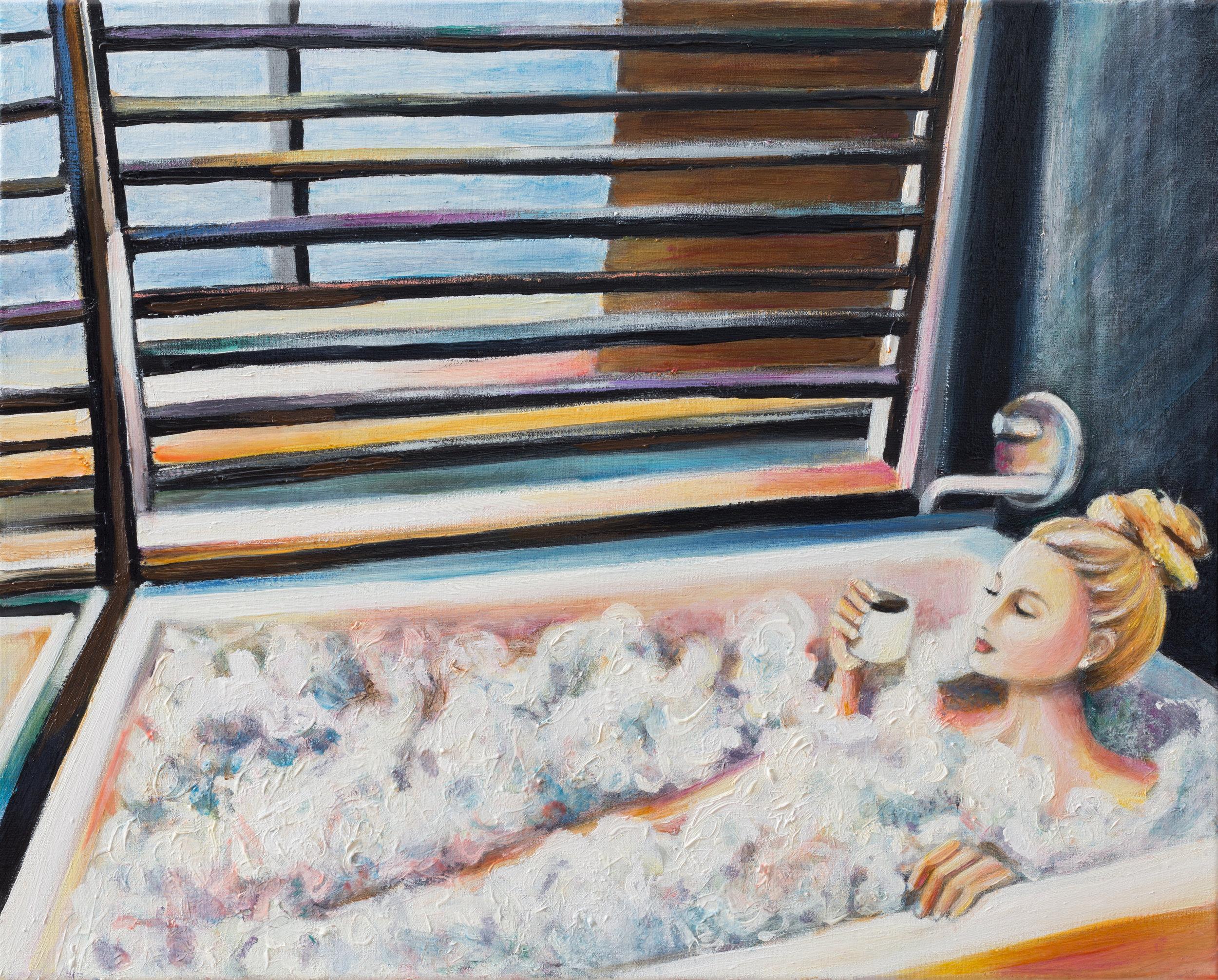 "A Standard Morning    16"" x 20""    Oil on Linen    ©Annika Connor"