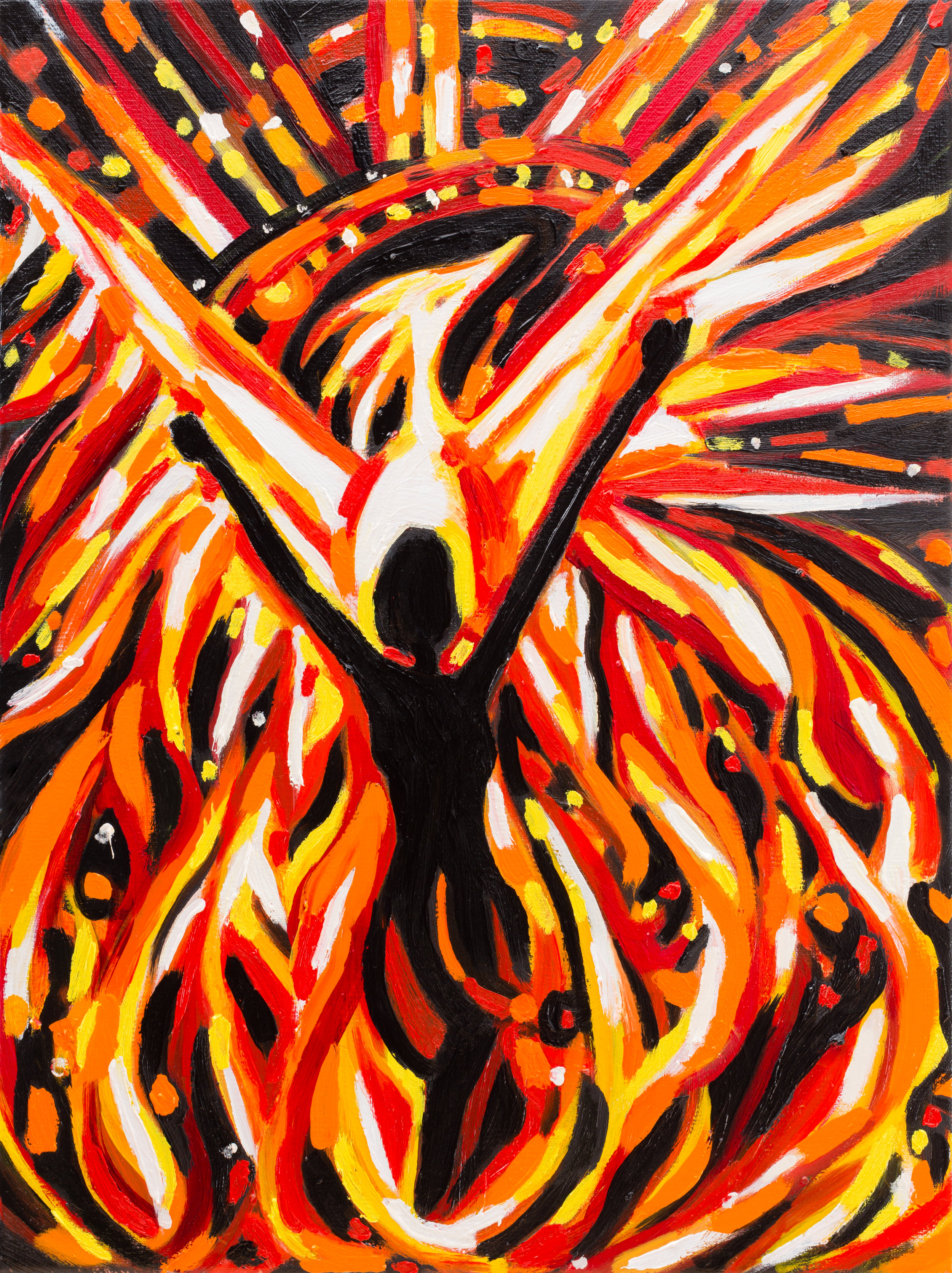 "Study for Phoenix   16"" x12"" Oil on Linen ©Annika Connor"