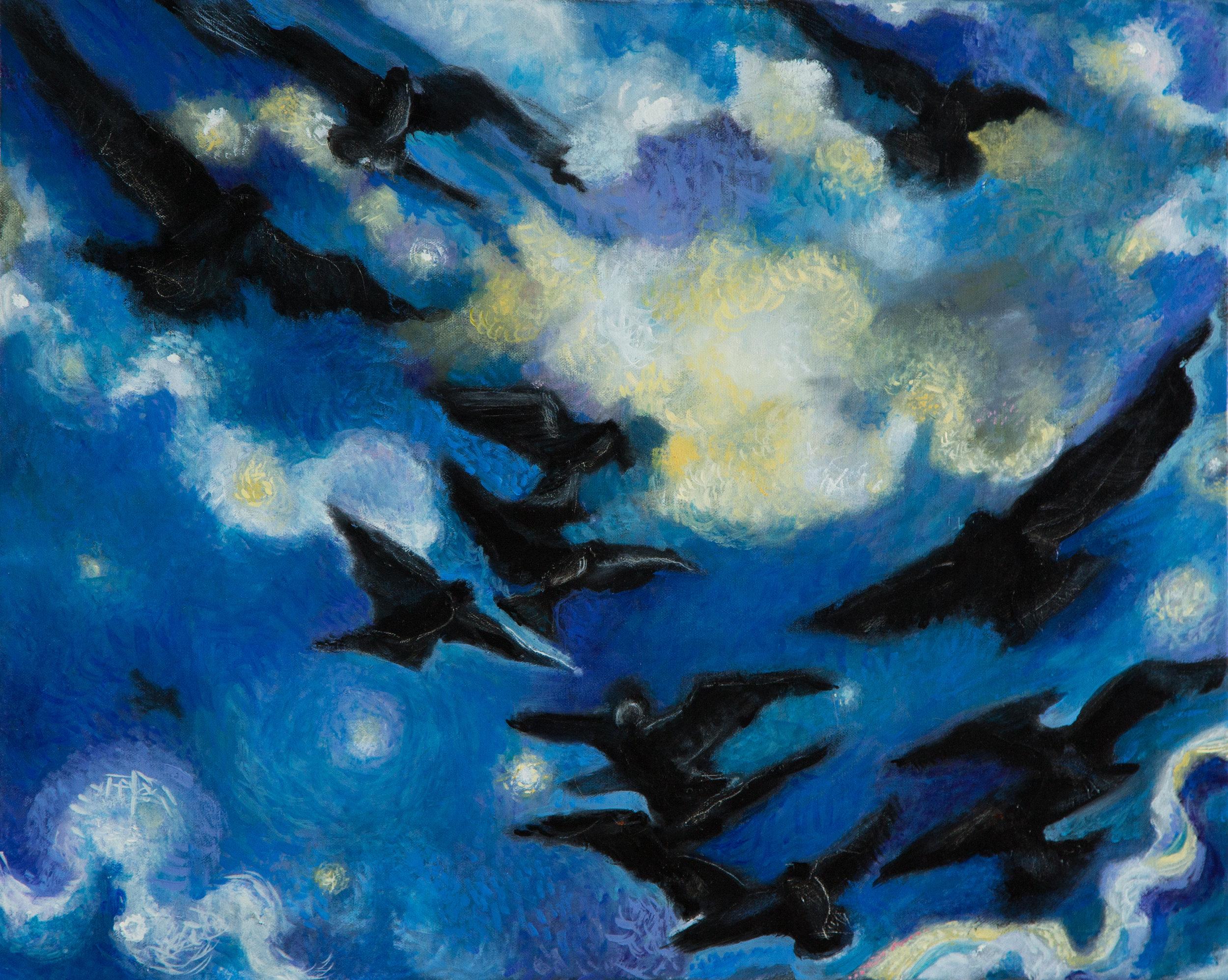 """Sky Dance  16"""" x 20""""  Oil on Linen  ©Annika Connor"""