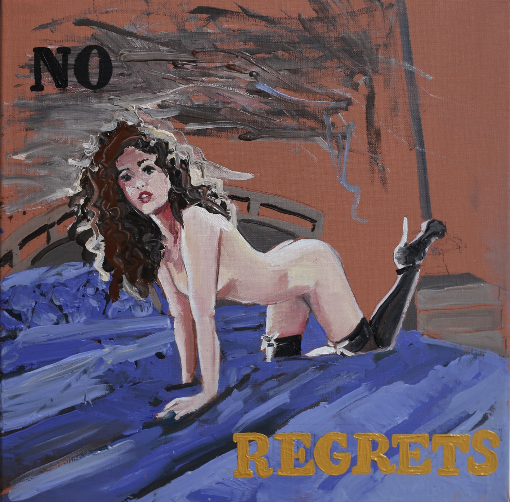 "No Regrets  12"" x 12""  Oil on Linen  ©Annika Connor"