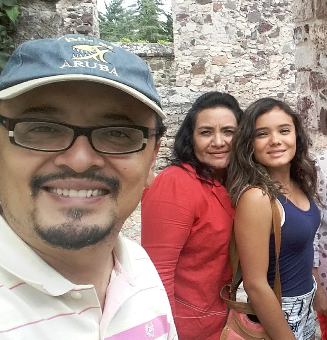 - César with wife and daughter