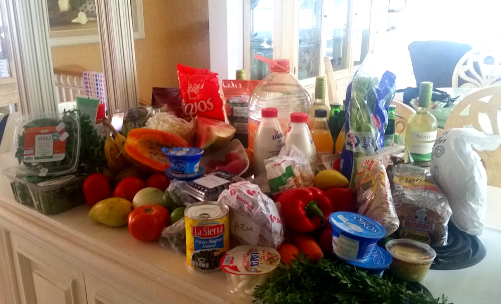 The good news: $93 dollars worth of groceries in Mexico -