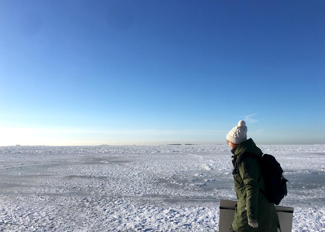 Marika Maijala Crossing Islands by sea in Helsinki.jpg