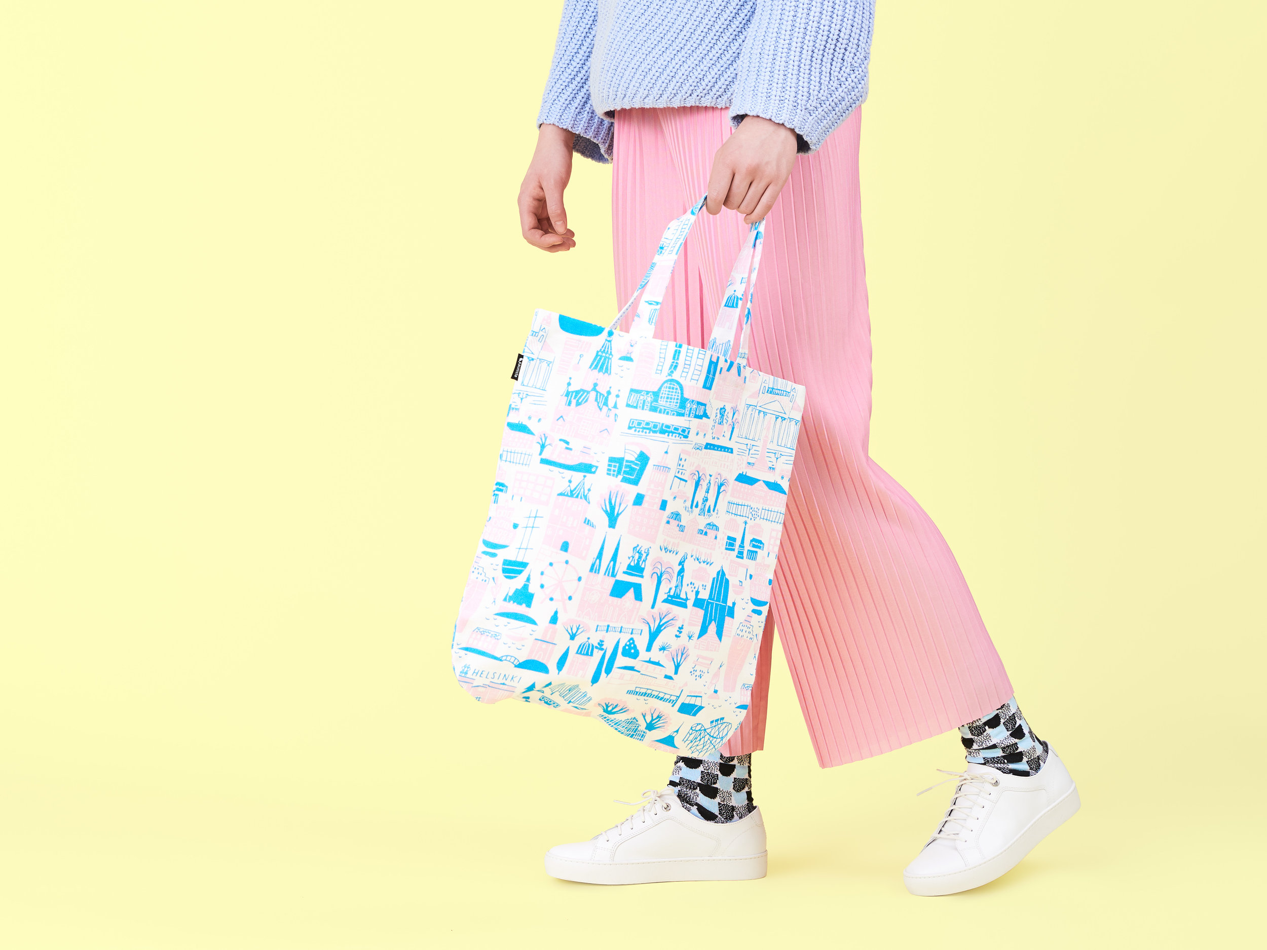 Helsinki bag - It's our favorite tote bag with the round corners & extra stitching on the handles to make sure it's durable.