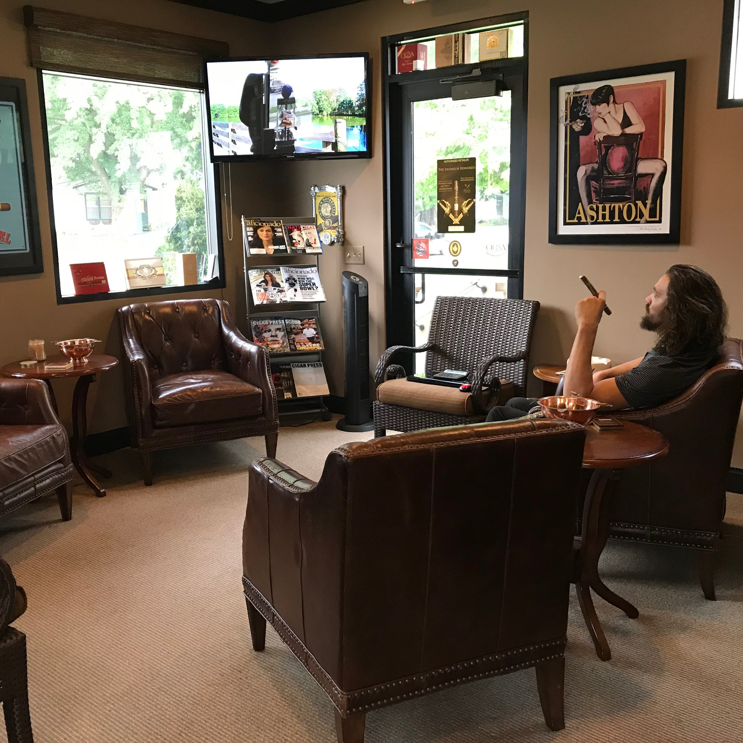 Enjoy a cigar in the lounge