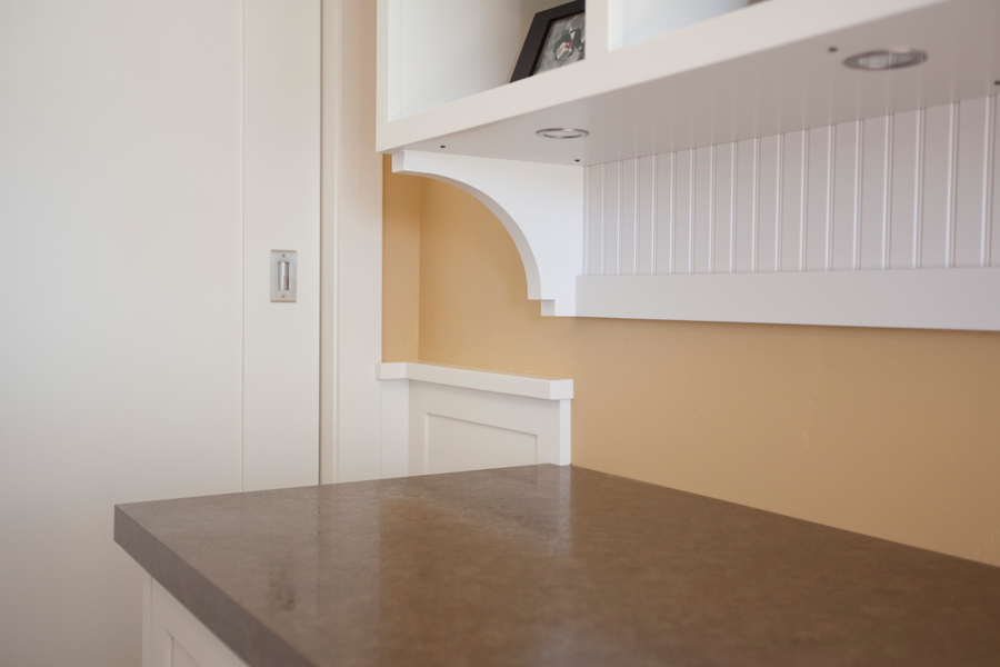 book case with recessed lighting