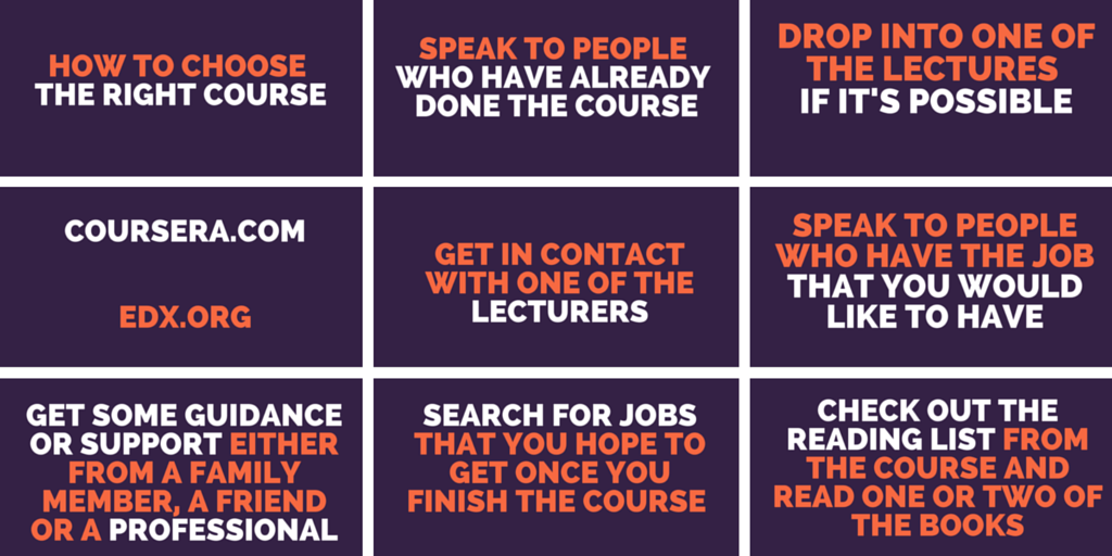 how to choose the right course