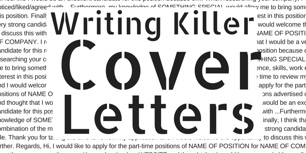 Writing Killer Cover Letters Ronan Kennedy