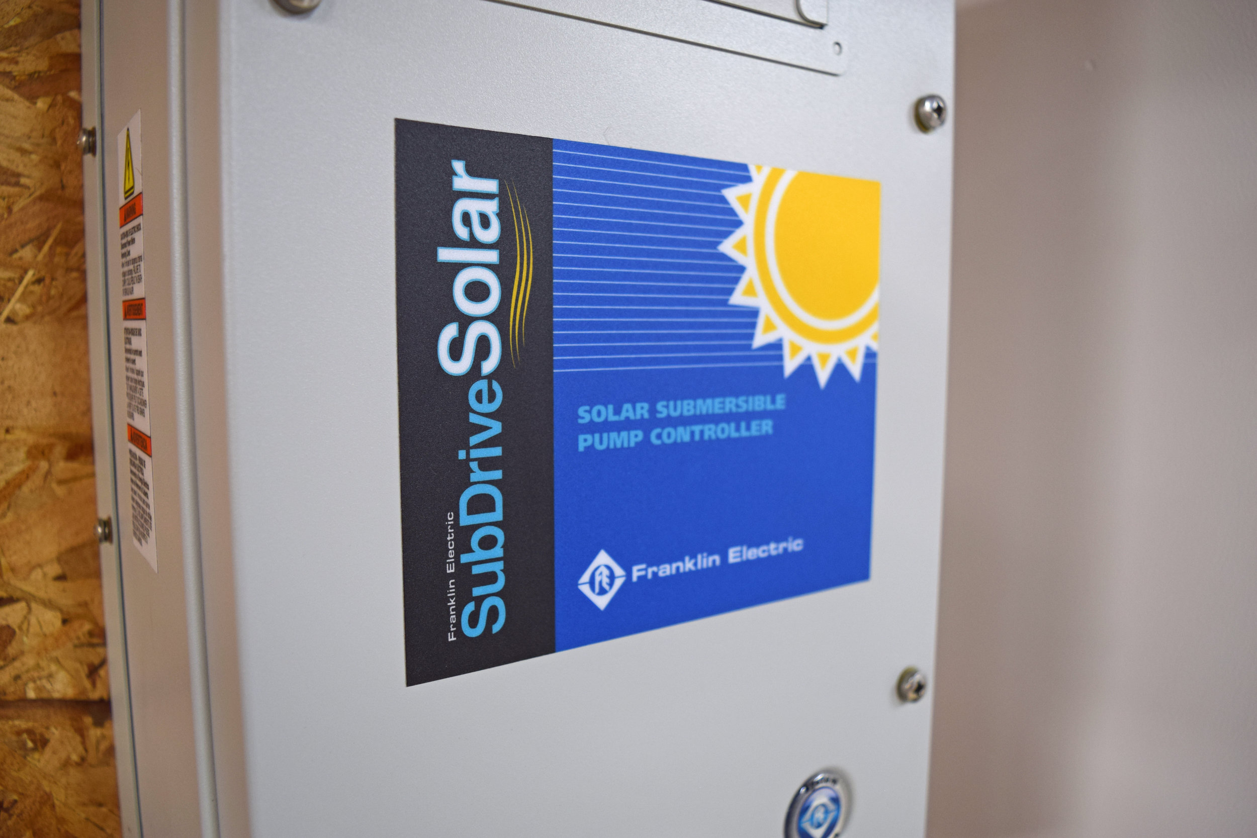SubDriveSolar submersible pump controller from Franklin Electric.