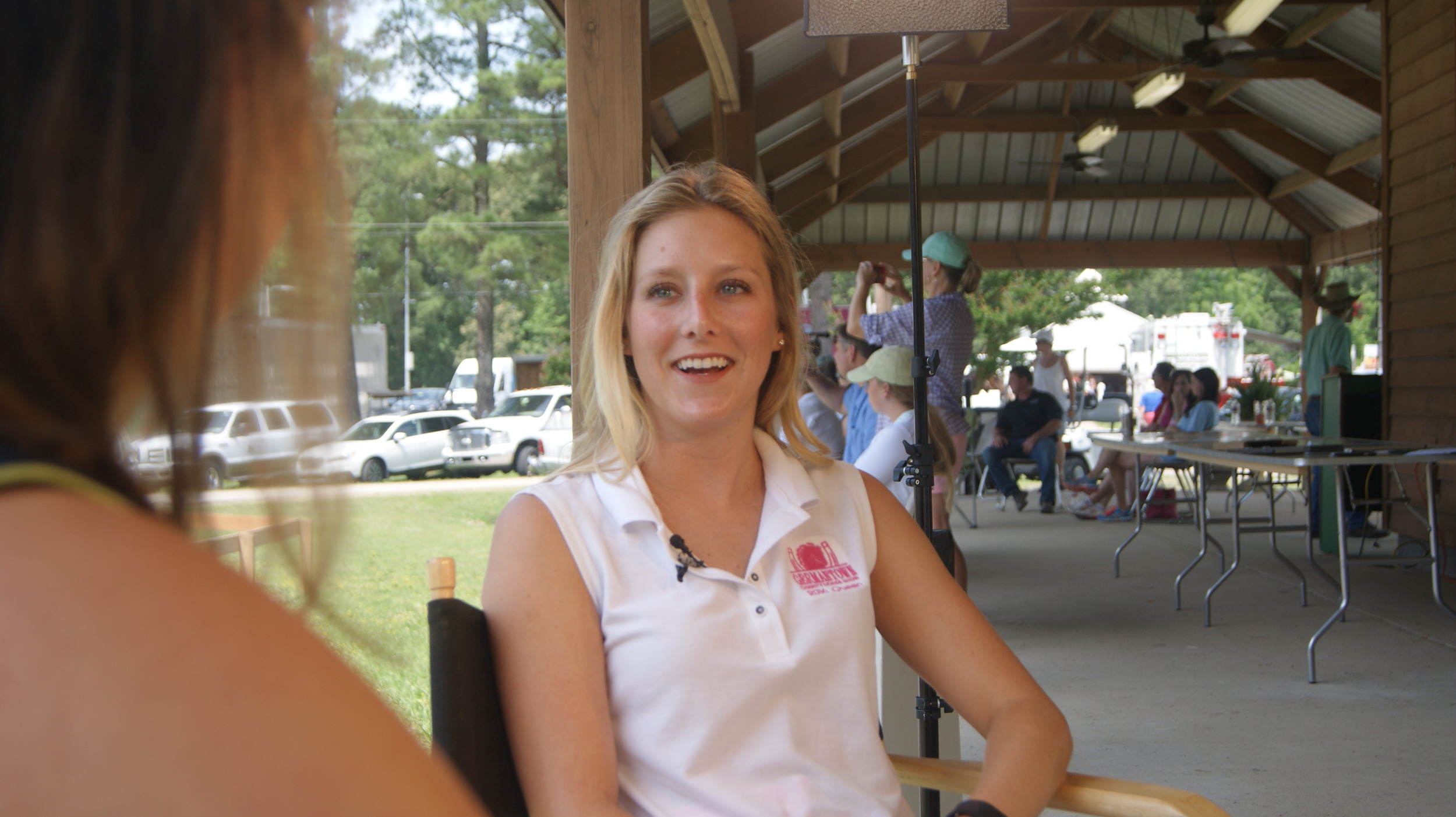 germantown charity horse show queen alison slot with  Crosstalk  host sara mayers