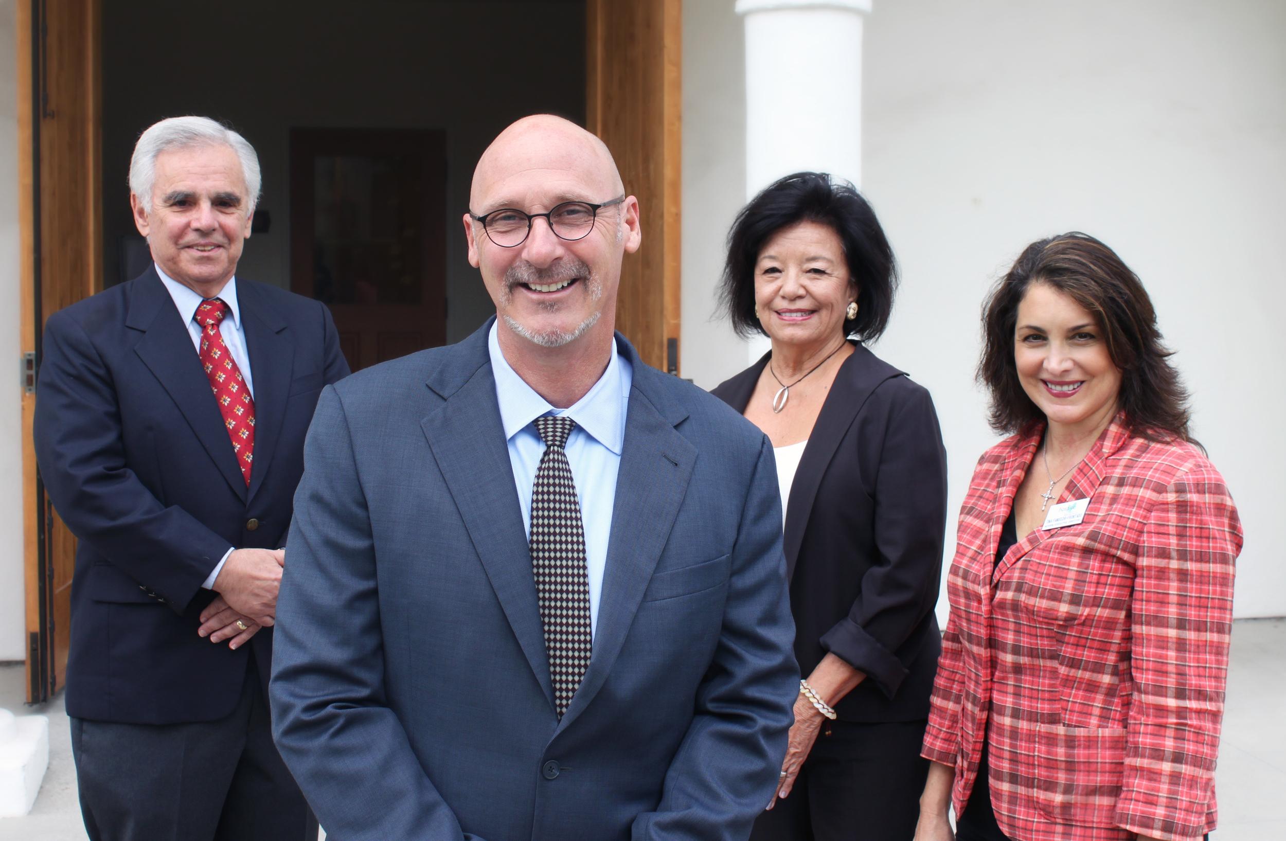 Sam Capra, Board President, David Selberg, Evie Vesper,Tina Fanucchi Frontado, Interim Chief Executive Officer