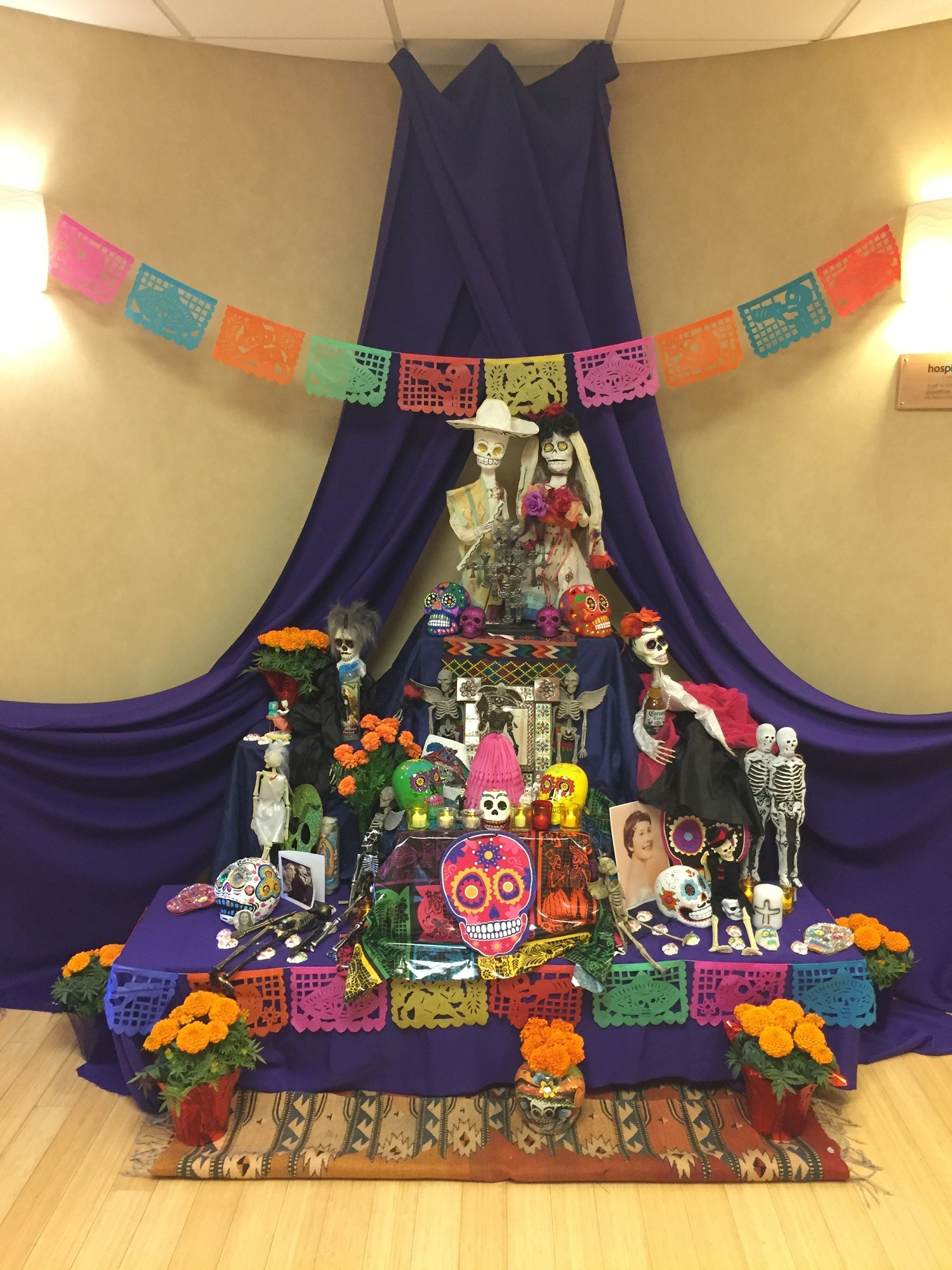 Día de los Muertos altar on display at Hospice of Santa Barbara